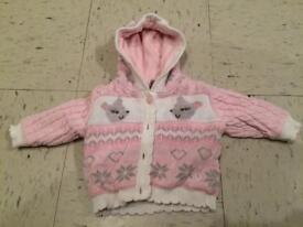 Up to 3 Months girls thick cardigan