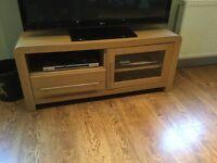 TV Unit light oak finish.