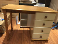 4 Drawer Solid Pine Dressing Table, New Ready Assembled rrp £169