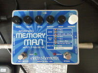 Electro Harmonix Digital Delay / Looper - Stereo Memory Man with Hazari [SMMwH] effects pedal