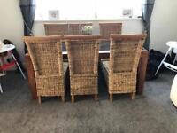 Barker and stone house table and 6 chairs