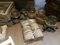 35 x Wedding Jam Jar Table Decorations