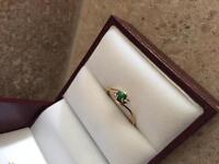 Turquoise & Diamond Ring, size 4-5