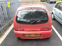 Red fiat seicento. 2 owners from new. Regular service history.