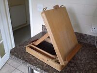 Artist easel in a carrying case