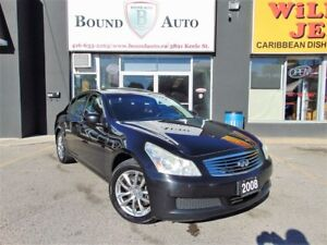 2008 Infiniti G35X AWD|LEATHER|S-ROOF|H-SEATS|B-TOOTH|CRUISE|ALL