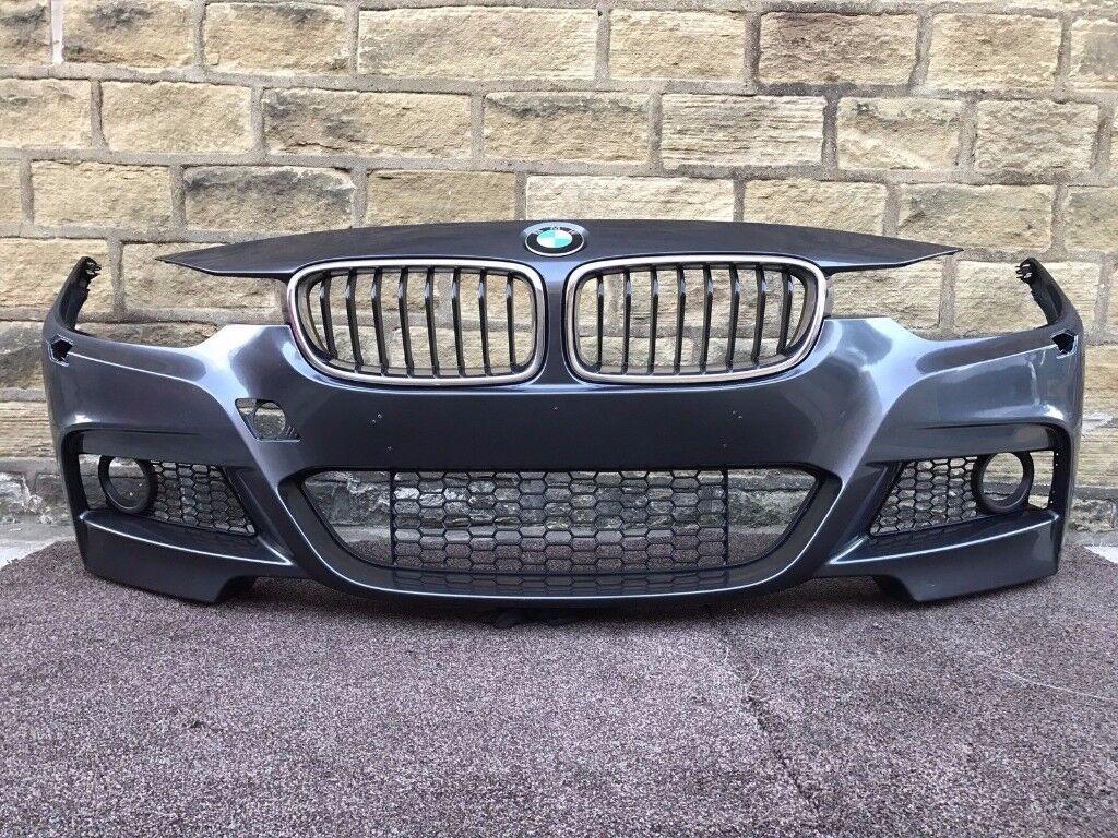 2015 BMW 3 SERIES F30 F31 M SPORT - FRONT BUMPER inc ALL GRILLS - Good Cond (8)