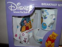 nursery items , disney breakfast set ,bath,potty, playmat changeing mat, stair gate