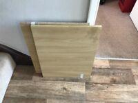 2 x Komplement Shelf - 50 x 58 cm Beech Effect - for Ikea Pax Single Wardrobe