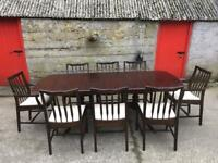 Extendable dinning table & 8 chairs