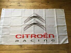 Citreon racing xsara c1 c2 c3 c4 SaxoSebastian loeb wrc workshop flag banner