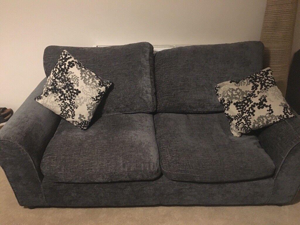 Homebase 2 Seater Tabitha Sofa Grey