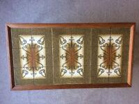 Danish tiled vintage coffee table