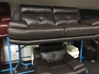New/Ex Display ScS Genoa Leather 3 Seater Sofa + 1 Seater Chair