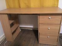 Desk. 120cmL 49cmD 72cmH. Oak veneer. Argos Desk