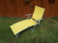 Reclining and Folding Sun Lounger