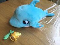 RRP £40 - £15 2 x Blu Blu Club Petz Interactive Dolphin Soft Toy