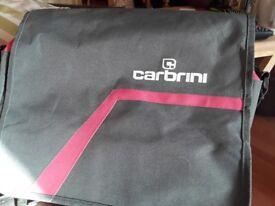 Grey Carbrini messenger bag
