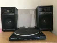 2 Phillips 2 Way Speakers & Record Deck