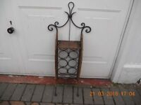 Wine Rack Cane/Rattan and Wrought Iron! Holds10 Bottles