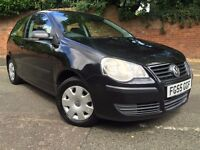 Great Condition, Great Value VW Polo E, 55 Plate in Black 3DR FSH
