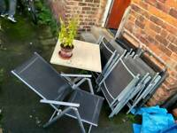Table and 9 chairs for backyard/terrace + plastic protector