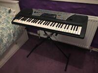 Yamaha Keyboard + Stand + Adaptor
