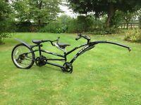 Adams Tandem trial a bike, 7 speed, black