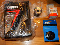 NEW: Yamalube Fully Synthetic Oil Service Kit - YZF-R1 00-06, R6 01-05, XJ6 etc includes wrench