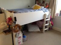 ASPACE CABIN BED- Juicy range, white in colour, right hand ladder