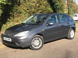 2003 FORD FOCUS LX TDCI, 1.8 DIESEL ENGINE, 5 DOORS, FULL SERVICE HISTORY.