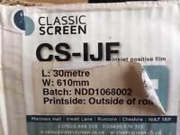 CS-IJF Ink positive film L: 30 meter, W:61cm