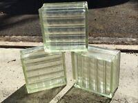 Classic retro glass bricks