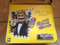Ps2 slim boxed buzz edition with games