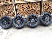 "18"" RS deep dish alloys alloy wheels 5x110 Vauxhall/Saab vectra 5x112"