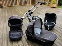 Baby Britax travel system pushchair pram carry cot car seat
