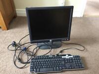 Dell pc monitor and dell key board