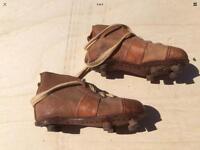 Child's 1930/40 Stanley Mathews boots Sz 7