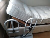 Mobility single bed and side rails