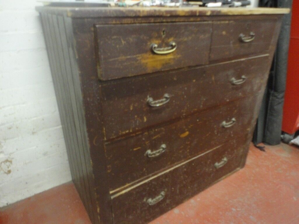 Pine Chest Of Drawers A Is Transformed With Aged Paintwork Vine Maps