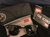 Black clubmaster rayban sunglasses