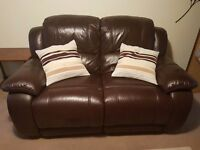 Double and Single Seat Leather Reclining sofa