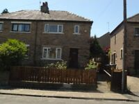 2 bedroom semi detached house Fully refurbished new kitchen, bathroom, carpets etc. £115