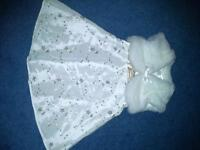 Bhs Bambini Ivory Dress and Faux Fur Shrug (Age 9-12 months)
