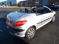 PEUGEOT 206 CC 1.6 CONVERTIBLE SILVER VERY LOW MILES