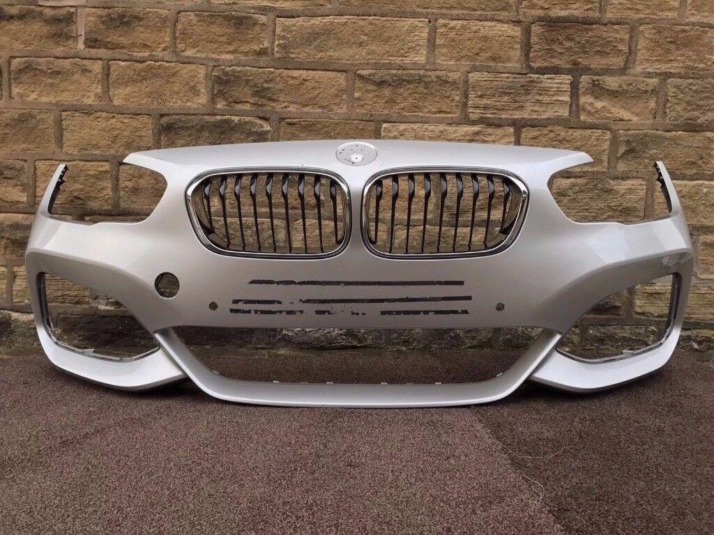 2016 BMW 1 SERIES F20 LCI - M SPORT FRONT BUMPER in Silver inc KIDNEY GRILLS