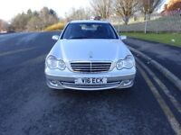 2006 Mercedes Benz C CLASS AUTOMATIC PETROL,FULL SERVICE HISTORY,FULL YEAR MOT,2 KEYS