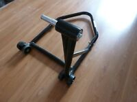 Paddock stand/Rear wheel stand, it was for a Ducati Multistrada (2005) but will fit other bikes.