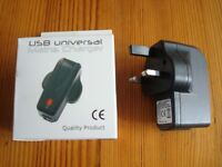 *** USB Universal mains Charger for Smartphone ***