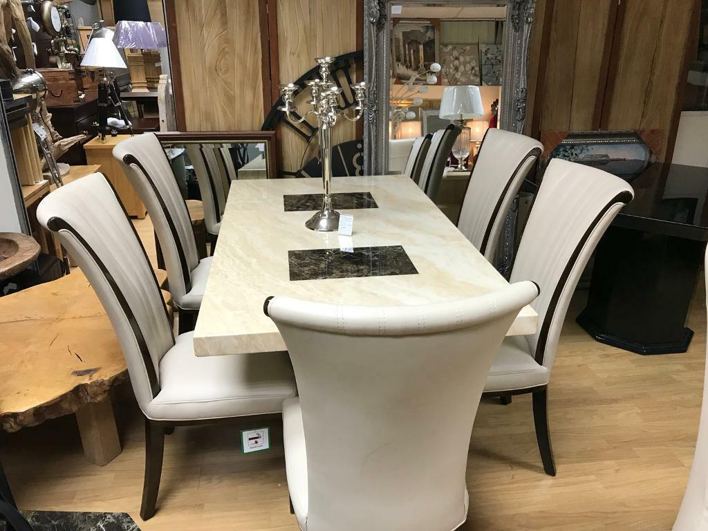 Stunning Menella Marble Table With 4 Chairs